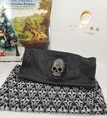【雪曼國際精品】THOMAS WYLDE CRYSTE裝飾骷髏頭折疊包/手拿包/晚宴包~二手(9成新)