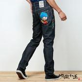 【夏季優惠↘5折】地藏右衛門公仔低腰直筒褲(原生藍) - BLUE WAY  地藏小王