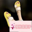 百搭女女士厚底外穿時尚涼拖鞋夏季運動涼鞋【櫻桃菜菜子】