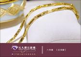 ☆元大鑽石銀樓☆【時尚金飾超推薦】『六角鍊項鍊 兩尺』黃金純金項鍊 重約6.0錢