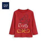 Gap男幼童Disney迪士尼系列迪士尼印花設計長袖T恤527379-灰底摩登紅字母圖案
