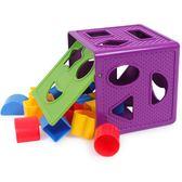 新年好禮 幾何形狀色彩認知智力盒塑料配對積木兒童益智玩具1-2歲寶寶感統