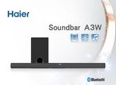 【歐風家電館】Haier 海爾 家庭劇院 藍牙 SoundBar 聲霸 重低音組 A3W (支援無線重低音)