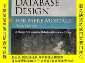 二手書博民逛書店Database罕見Design for Mere Mortal