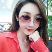 太陽眼鏡2020新款新款沙灘墨鏡女潮圓臉明星同款網紅太陽鏡優雅潮眼鏡時尚長臉  後街五號
