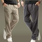 亞麻褲男士中國風夏季薄款寬鬆棉麻褲直筒休閒褲麻布褲大碼運動褲「艾瑞斯居家生活」
