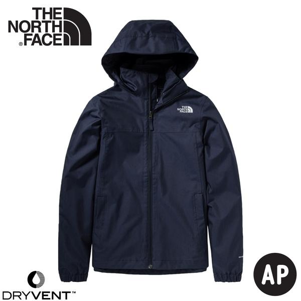 【The North Face 女 DV 防水外套《深藍》】4N9V/防水透氣衝鋒衣/風雨衣