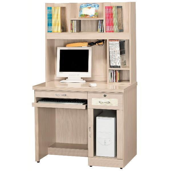 書桌 電腦桌 CV-639-1 艾嫚妮白橡3.2尺電腦桌組 【大眾家居舘】