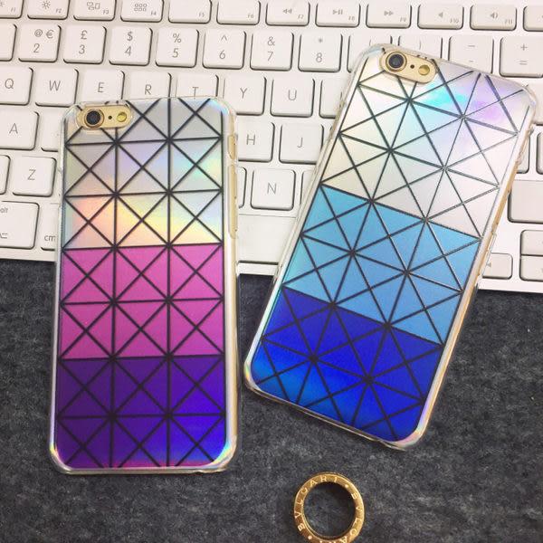 【Love Shop】幾何圖形 鐳射手機殼可拆換 另有三宅一生手機殼 iphone6/plus 雷射手機殼 閃亮
