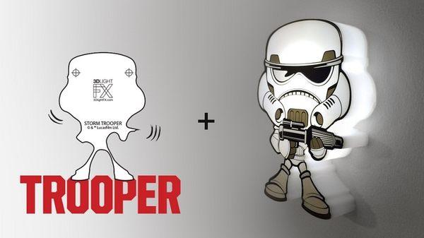 萬聖節~星際大戰七部曲 原力覺醒 3D造型迷你夜燈-白兵-  (加拿大原裝進口)/3D LIGHT FX出品