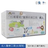 【醫博士】〝台灣優紙〞成人醫療防護口罩 (每帳號最多一盒)