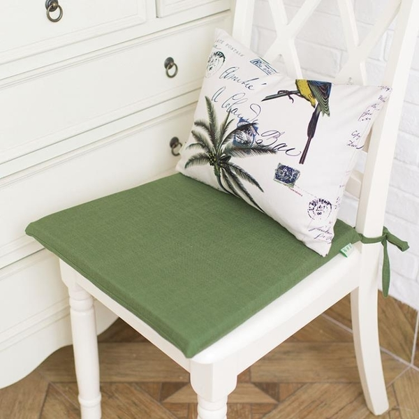 [超豐國際]歐美式鄉村花鳥全棉純棉布藝餐椅墊坐墊海綿墊凳子墊1入