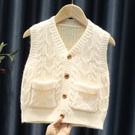兒童馬甲 春秋季外穿男女童裝針織開衫小寶寶毛衣外套坎肩馬夾背心【快速出貨八折鉅惠】