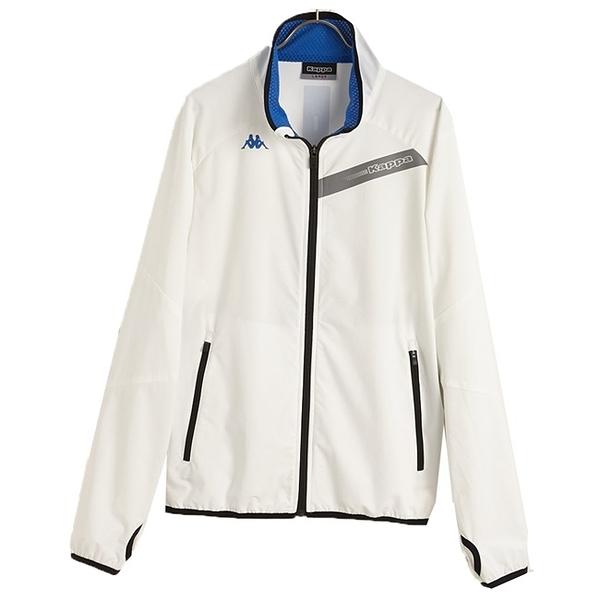 KAPPA義大利時尚單層TEFLON風衣外套(合身版) 白 義大利藍