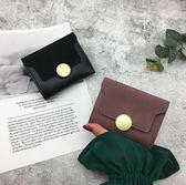 磨砂複古小零錢包袋女短款薄2018新款韓版搭扣軟皮夾迷妳折疊錢夾