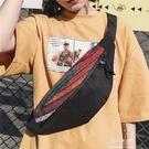 INS超火胸包男韓版潮牌學生單肩包斜背包女嘻哈時尚腰包休閒運動【快速出貨】