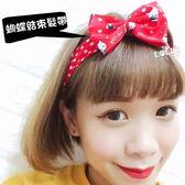 正版 凱蒂貓 HELLO KITTY KT 蝴蝶結束髮帶 髮帶 髮圈 髮飾 紅點款 COCOS VD062