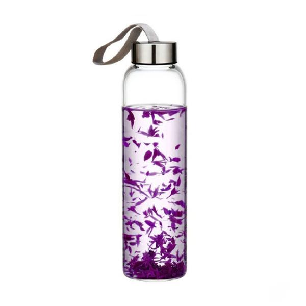 原點居家創意時尚玻璃水瓶透明耐熱玻璃水杯登山戶外郊遊水壺自行車運動隨身杯120ML