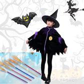 萬圣節兒童演出服女童角色扮演cosplay服裝小巫婆女巫派對表演服   多莉絲旗艦店