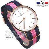 valentino coupeau PARIS 范倫鐵諾 異國風情 英倫情人 指針錶 防水手錶 中性錶 女錶 男錶 V61349藍粉玫