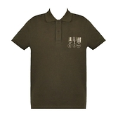 【南紡購物中心】ARMANI JEANS 徽章印花短袖POLO衫-墨綠