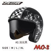 [中壢安信] M2R MO-2 彩繪 #1 消光黑 騎士 手工縫邊 復古帽 內墨片 安全帽 MO2