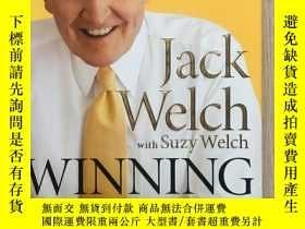 二手書博民逛書店英文原版罕見Winning Jack Welch with Suzy Welch 贏 傑克·韋爾奇 簽名本 精裝
