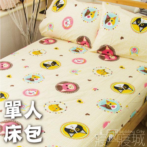 絲絨棉感 - 單人(含枕套)多種組合7款 [床包式  SGS檢驗合格] 超細纖維 寢居樂台灣製