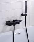 【麗室衛浴】高質感 F-219-3 淋浴龍頭 浴缸雙槍瀑布式出水 含蛇管、蓮蓬頭、掛杯