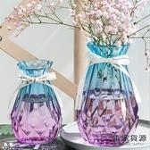 2個裝 客廳北歐水培玻璃花瓶透明插花瓶擺件【毒家貨源】