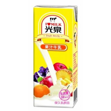 【光泉】果汁牛乳200ml,6罐/組【合迷雅好物超級商城】