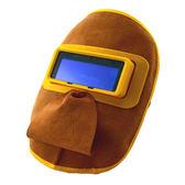 牛皮自動變光防護面罩 電焊面具 焊工防烤臉阻燃面具 純牛皮-享家生活館