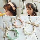 浪漫花朵蕾絲髮圈髮帶 拍照  橘魔法 magic baby 現貨 髮帶 花童 禮服 畢業典禮
