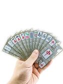 紙牌麻將牌旅行便攜麻將撲克PVC 防水便攜麻將雀牌迷你旅行麻將牌