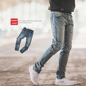 牛仔褲 經典素面簡約刷色小直筒牛仔褲【N9800J】