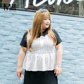 Miss38-(現貨)清純白 純棉繡花荷葉花邊 顯瘦 細肩帶 小可愛 背心【A05030】