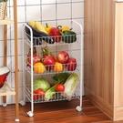手推車置物架 菜架多層放菜籃帶輪落地廚房收納筐宿舍蔬菜架可移動小推車置物架