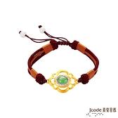 J'code真愛密碼金飾 金玉富貴黃金/純銀中國結手鍊