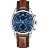 Hamilton AMERICAN CLASSIC 自由精神計時機械錶-藍/42mm H32416541