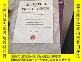 二手書博民逛書店AEA罕見PAPERS AND PROCEEDINGSY2678