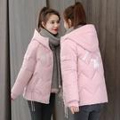 寬鬆工裝女士外套 羽絨外套韓版外套 冬季加厚上衣 休閒夾克外套加絨 修身可愛棉服女生外套