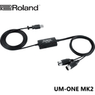 [唐尼樂器] 公司貨免運 Roland UM-ONE MK2 MIDI USB 錄音介面 錄音卡 連接線 傳輸線