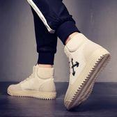 高幫男鞋韓版百搭雪地靴短靴冬季棉鞋馬丁靴潮流中幫男靴    傑克型男館