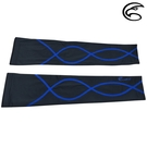 ADISI X-Line抗UV自行車袖套 AS15003 (XS-XL) / 黑 / 藍線 / 城市綠洲