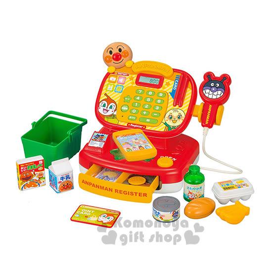 〔小禮堂嬰幼館〕麵包超人 超市收銀機玩具組《紅黃.朋友.橘黃盒裝》 4979750-79343