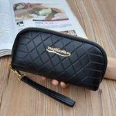長夾 手拿錢包女長款拉鏈大容量簡約時尚手機鑰匙零錢包手包潮-炫科技