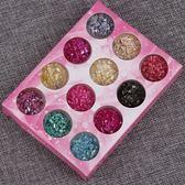 【雙11折300】美甲亮片細閃粉菱形亮片貝殼碎片絲絨粉指甲油膠貼片12色散粉飾品