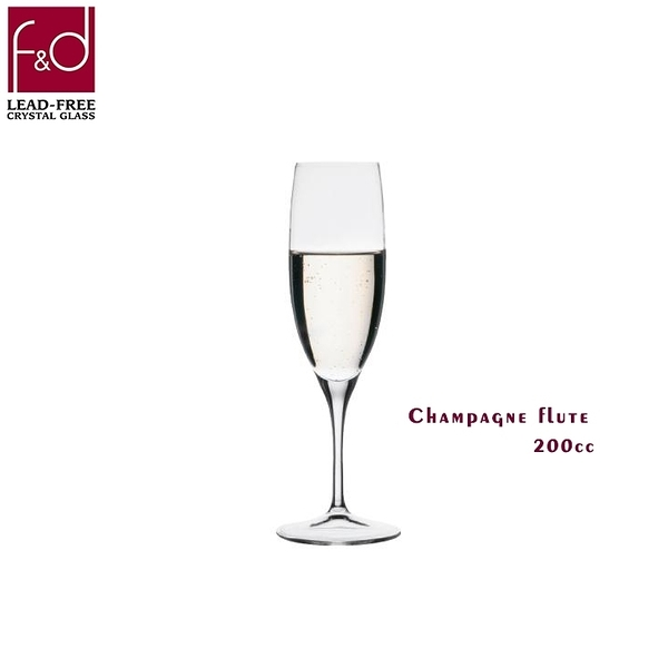 f&d 笛型香檳杯 200cc champagne flute 香檳杯 高腳杯 水晶玻璃杯 酒杯 玻璃杯