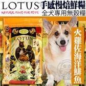 【zoo寵物商城】LOTUS樂特斯》手感慢焙鮮糧無穀火雞佐海洋鯡魚全犬糧-4磅