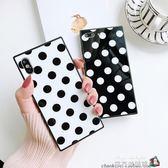 ins黑白波點X蘋果6s方形手機殼iPhone7plus/8全包保護套6sp女款軟 魔方